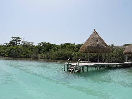 Lagune de bacalar, ponton