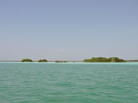 Lagune de Bacalar, couleurs