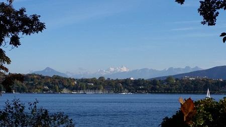 lago, mont blanc, ginebra